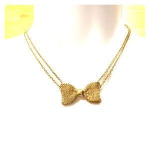 ZAD Goldtone Bow Necklace